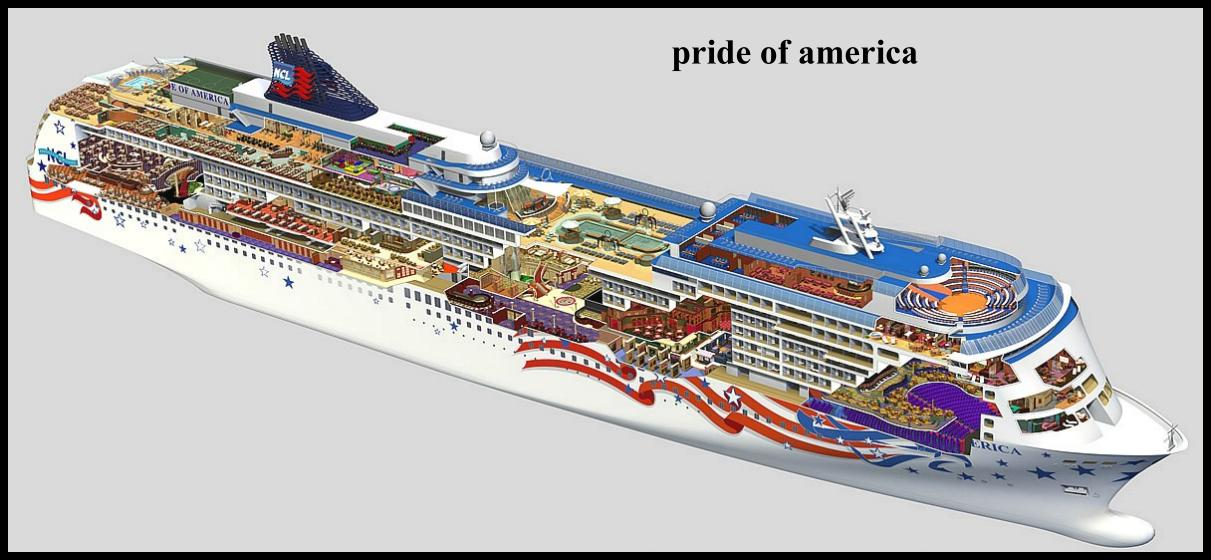 PRIDE Of AMERICA - Us registered cruise ships