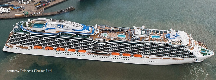 ROYAL PRINCESS - Port or starboard side of cruise ship